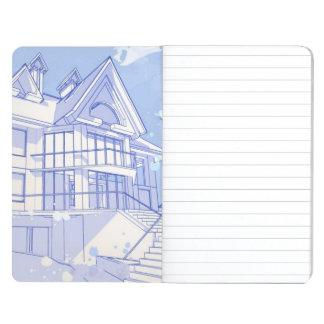 casa: drenaje de la acuarela cuadernos