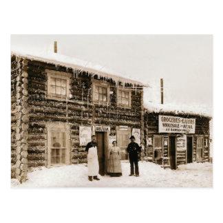 Casa el Yukón, Alaska del imán circa 1890s Tarjetas Postales