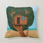Casa en el árbol cojines