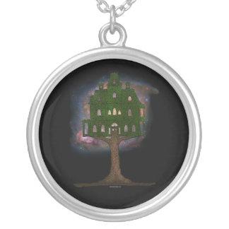 Casa en el árbol del cosmos colgante redondo