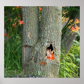 Casa en el árbol - impresión impresiones