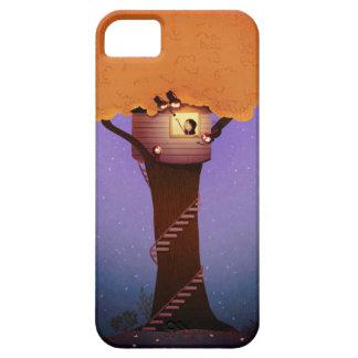 """Casa en el árbol """"lugares secretos """" del mono iPhone 5 protector"""