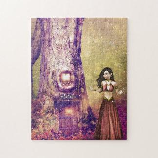Casa en el árbol puzzle con fotos
