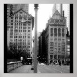 Casa-En el centro de la ciudad Chicago 4 del arte  Posters