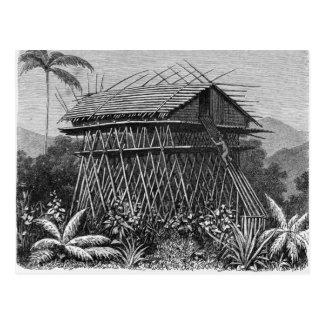 Casa en el pueblo de Arfak de Memiwa, Nueva Guinea Postales