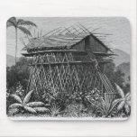 Casa en el pueblo de Arfak de Memiwa, Nueva Guinea Tapetes De Ratones