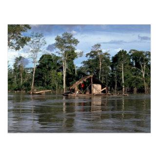 Casa en el río Amazonas superior, Perú Tarjeta Postal