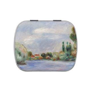 Casa en el río de Pierre-Auguste Renoir Frascos De Dulces