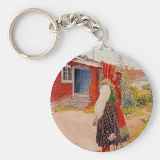 Casa en Falun con el chica Llavero Personalizado