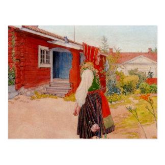 Casa en Falun con el chica Tarjetas Postales