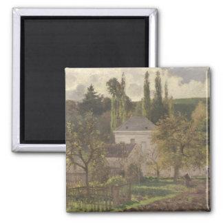 Casa en la ermita, Pontoise, 1873 Imán Cuadrado