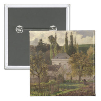 Casa en la ermita, Pontoise, 1873 Pin Cuadrada 5 Cm