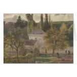 Casa en la ermita, Pontoise, 1873 Tarjeta De Felicitación