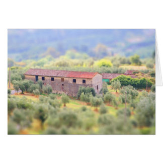 Casa en la Toscana Tarjeta De Felicitación