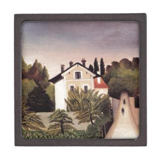 Casa en las cercanías de París de Henri Rousseau Caja De Joyas De Calidad