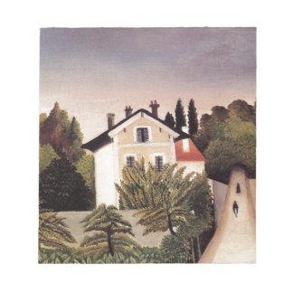Casa en las cercanías de París de Henri Rousseau Libreta Para Notas
