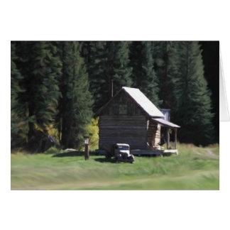 Casa en las maderas tarjeta de felicitación