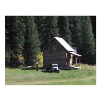 Casa en las maderas tarjeta postal
