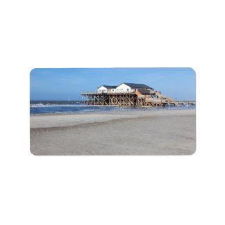 Casa en los zancos en la playa de San Pedro Ording Etiquetas De Dirección