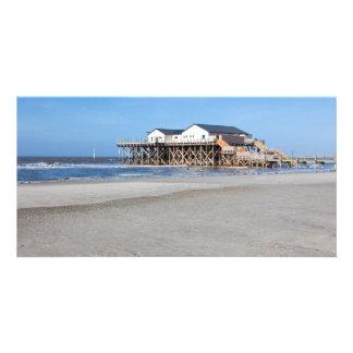 Casa en los zancos en la playa de San Pedro Ording Tarjetas Personales