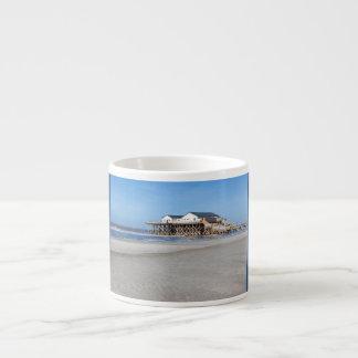Casa en los zancos en la playa de San Pedro Ording Taza Espresso