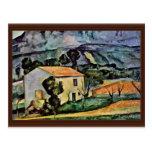 Casa en Provence de Paul Cézanne (la mejor calidad Tarjeta Postal