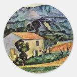Casa en Provence de Paul Cézanne (la mejor Etiqueta Redonda