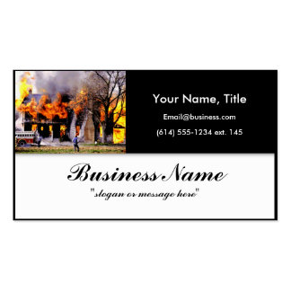 Casa en tarjeta de visita del seguro contra incend