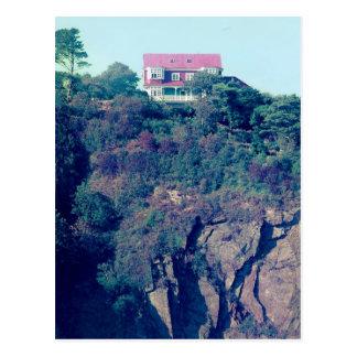 Casa en un acantilado, Tenby, País de Gales, Reino Postal