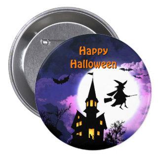 Casa encantada asustadiza con la bruja - feliz Hal Pin