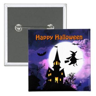 Casa encantada asustadiza con la bruja - feliz Hal Pins