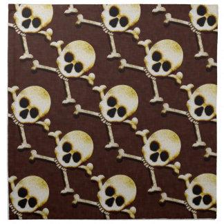 Casa encantada asustadiza de Halloween del cráneo Servilleta Imprimida