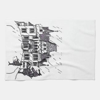Casa encantada B y bosquejo de W Toalla