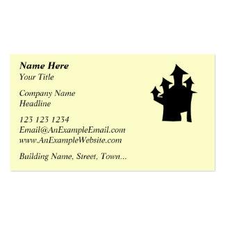 Casa encantada con cuatro torres tarjetas de visita