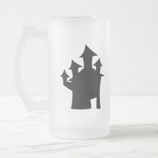 Casa encantada con cuatro torres taza de cristal