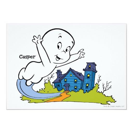 Casa encantada de Casper Invitación 12,7 X 17,8 Cm