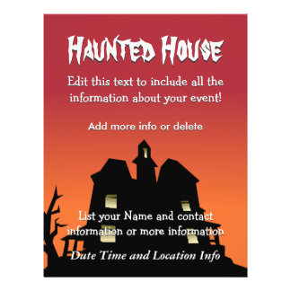 Casa encantada de encargo del acontecimiento flyer personalizado