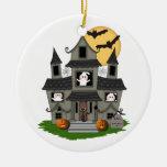 Casa encantada de Halloween Adorno De Navidad