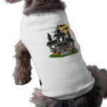 Casa encantada de Halloween Camiseta De Perrito