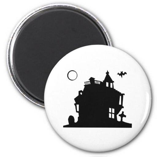 Casa encantada de Halloween Imán De Frigorífico