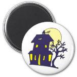 Casa encantada de Halloween Iman Para Frigorífico