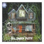 Casa encantada de Halloween Invitación 13,3 Cm X 13,3cm