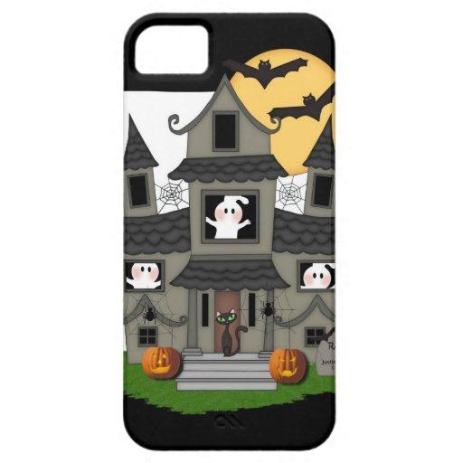 Casa encantada de Halloween iPhone 5 Fundas