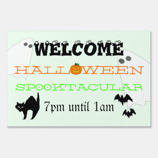 Casa encantada de Halloween Letreros