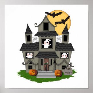 Casa encantada de Halloween Impresiones