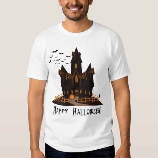 Casa encantada de Halloween Playeras