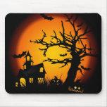 Casa encantada de Halloween Tapetes De Raton