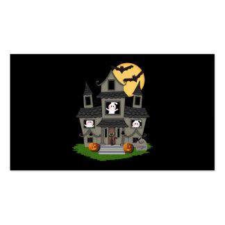 Casa encantada de Halloween Tarjetas Personales