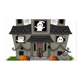 Casa encantada de Halloween Plantillas De Tarjeta De Negocio