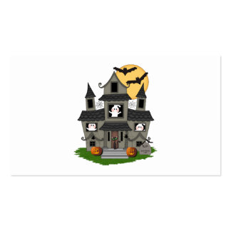 Casa encantada de Halloween Tarjeta De Negocio